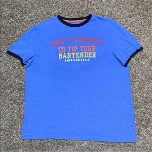 Don't Forget to Tip Your Bartender T shirt XL AEO